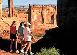 Moab Arches National Park Park Avenue Hikers