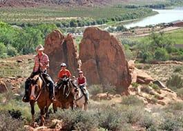 Moab Horseback Riding Boulders