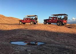 Moab Hummer Tours Pair Reflection