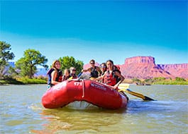 Moab Rafting Tour - Paddleboat on the Colorado River