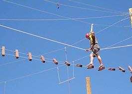Moab Ropes Course Suspension Bridge 2