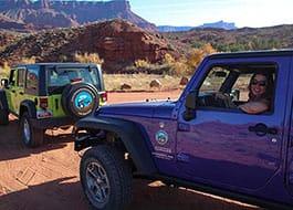 Moab Utah Jeep Hottie in Purple