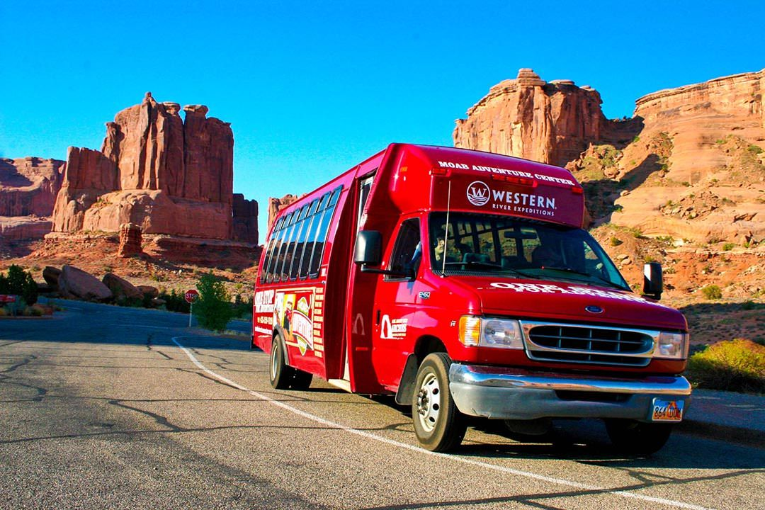 Moab Arches National Park Van Front