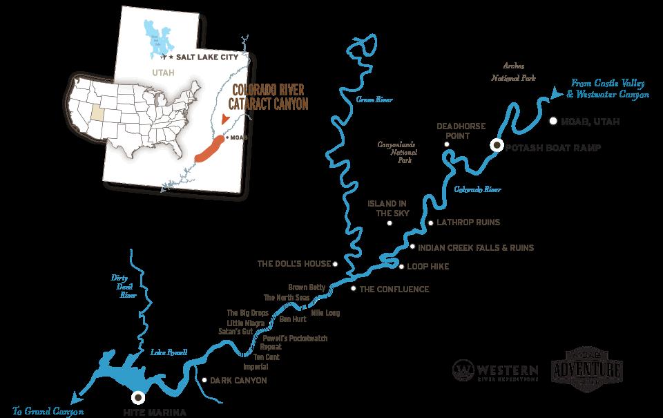 Cataract Canyon River Map