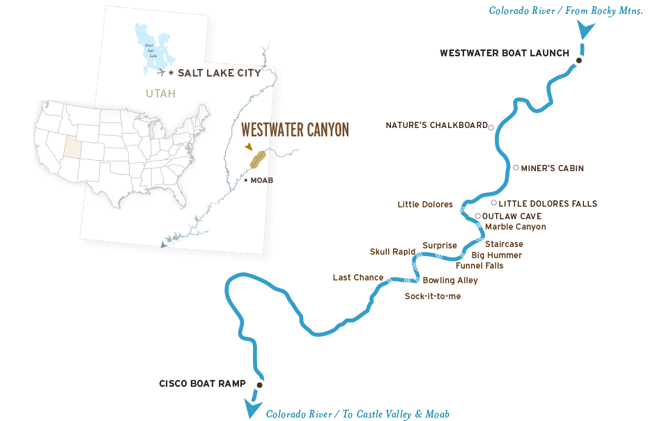 Westwater Canyon Map