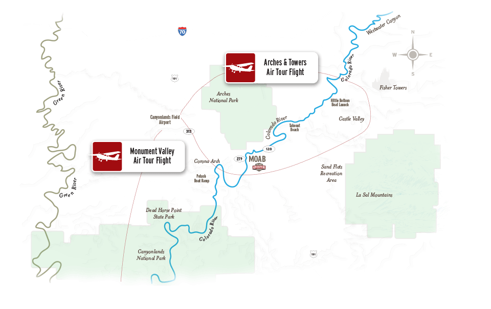 Moab air tours map