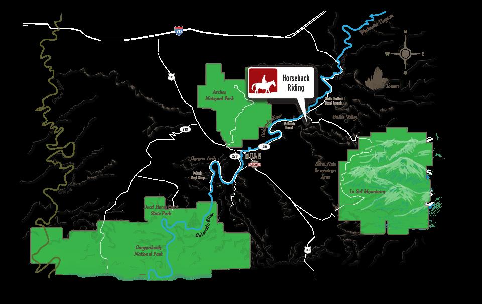 Horseback riding map moab