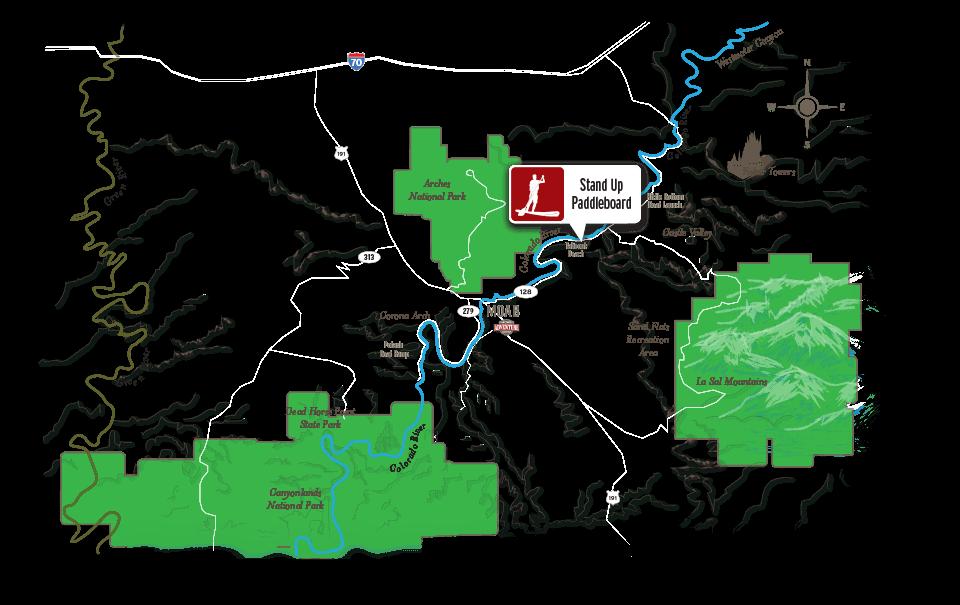 paddleboarding moab map