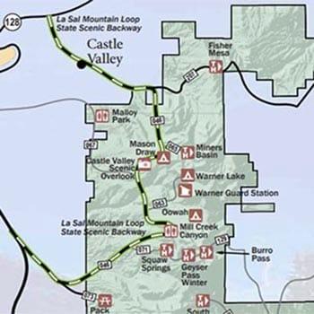 Manti La Sal Forest Map