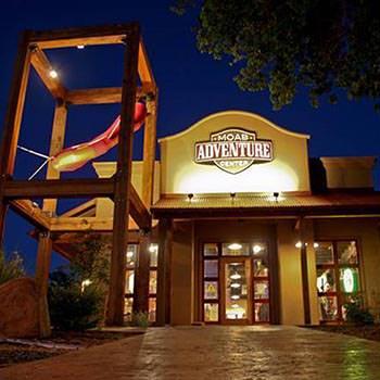 Moab Adventure Center Night Fron Door