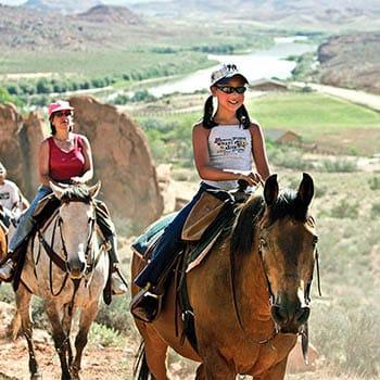Moab Horseback Riding Family