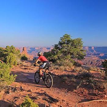 Moab Mountain Biking Dead Horse Point Singletrack View