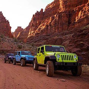 Moab Utah Jeep Top of Canyon