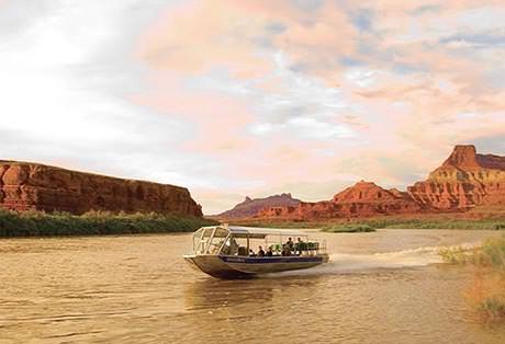 Moab Jet Boat Tours Sunset