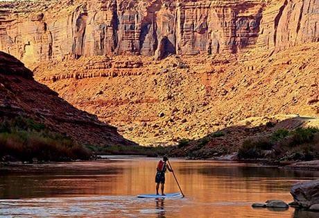 Moab Paddle Boarding Sunset Canyon