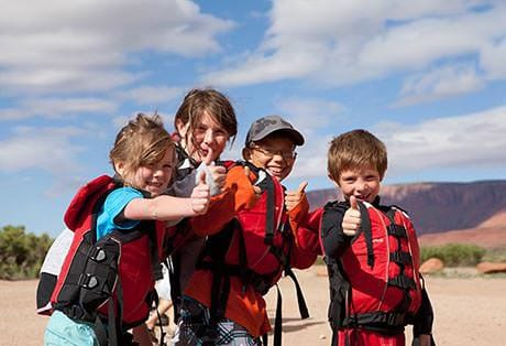 Moab River Rafting Kids Thumbs up