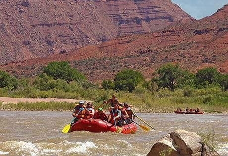 Moab River Rafting Rocky Rapid