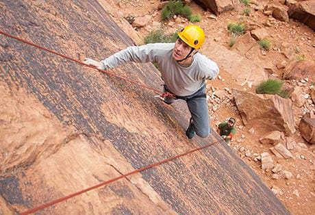 Moab Rock Climbing Perspective Above