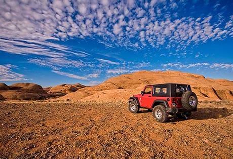 Moab Utah Jeep Red Sky