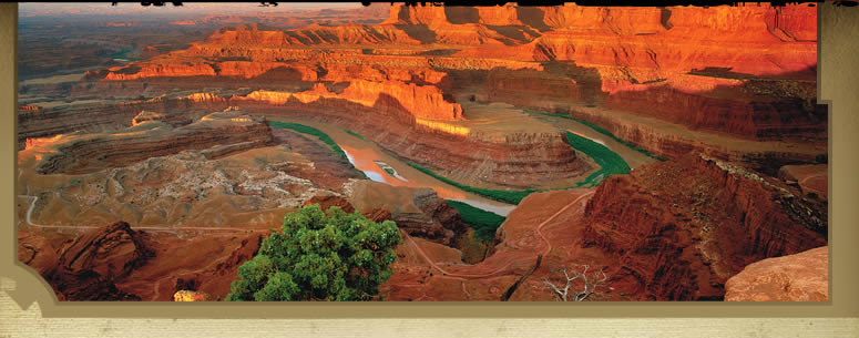 Dead Horse Point Overlook into Colorado River