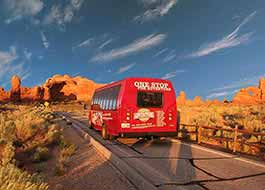 Moab Arches National Park Van Rear