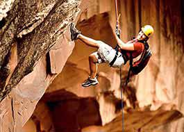 Moab Canyoneering Descent Arch Ali