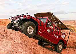 Moab Hummer Tours Side Climbing